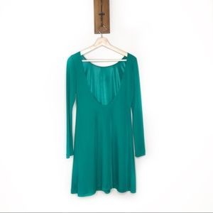 Zara Trafaluc green low back green dress